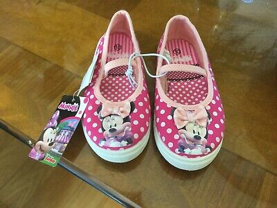 Nwt Disney Minnie Mouse Shoes Sz 10 Child Pink W/ Dots