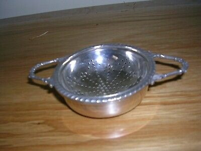 Vintage Mappin & Webb Silver Plated Tea Strainer & Bowl