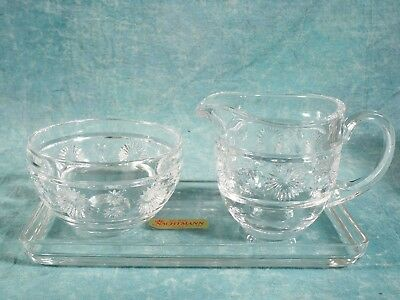 Nachtmann  Glass Crystal Creamer Sugar Bowl set Vintage Germany NEW  IN BOX