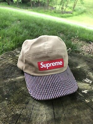 35fa7934 SUPREME TERRY MESH Side Panel Camp Cap Hat Navy One Size OS 100 ...