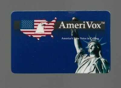 1990's Amerivox Eagle Collectible Prepaid Phone Card