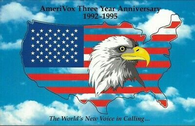 1990's Amerivox Large Eagle Collectible $50.00 Prepaid Phone Card