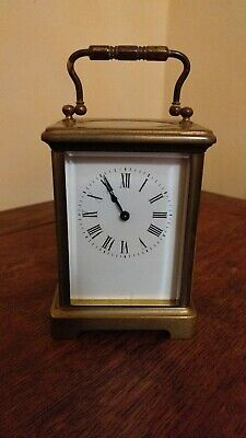 Vintage French Brass Carriage Clock Spares Or Repairs
