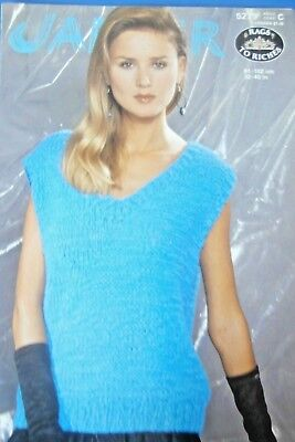 """Jaeger Knitting Pattern 5279-Ladies 'Rags to Riches' yarn Top 32""""-40""""-Not a copy"""