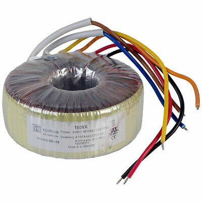 Vigortronix VTX-146-160-118 Toroidal Transformer 230V Single Primary 160VA 0-18V