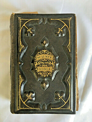 Antique Leather book ~Science and the BIBLE~ w illustrations - HW MORRIS