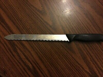 The Pampered Chef Serrated Kitchen Knife Stainless Steel USA Free Shipping