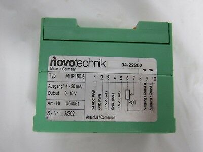 Novotechnik MUP150-5 4-20mA 0-10V Signal Conditioner Position Dimensions
