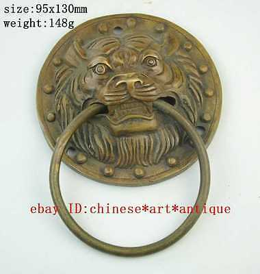 Large Chinese Bronze Foo Dog Foo Lion Door Knocker