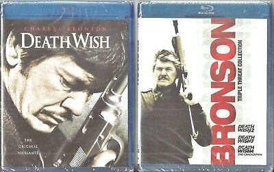 Death Wish Collection 1, 2, 3 & 4 - Blu-ray Movie Pack Charles Bronson BRAND NEW