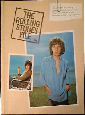 The Rolling Stones File Music Song Book Notation Piano Biography Mick Keith Ron