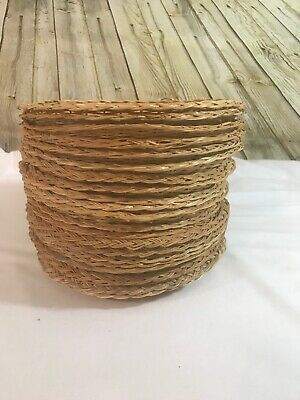 "Vintage Wicker Rattan Paper Plate Holders 9.5"" Lot Of 20 Picnic Dining Camping"