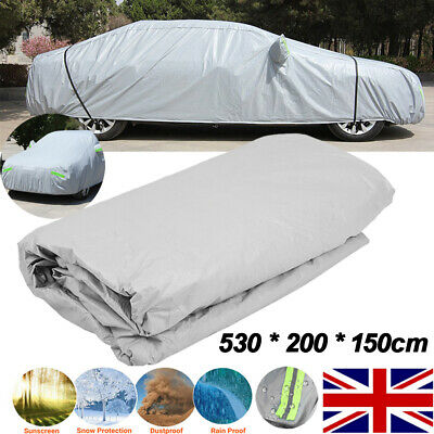 Waterproof Extra Large Full Car Cover Cotton Lining Breathable UV Protect 3XXL
