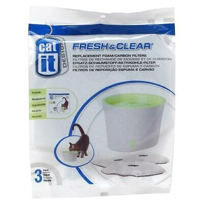 CAT IT Lot de 3 recharges charbon fontaine 17.5x17x5cm - Pour chat