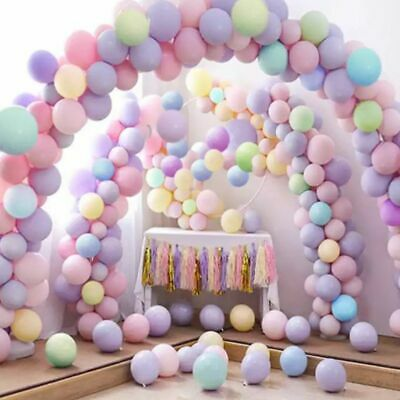 100Pcs 10 inch Macaron Candy Colored Pastel Latex Balloon Wedding Party Decor