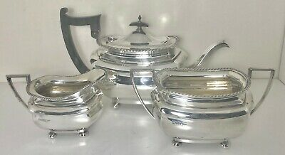 1220 grams - antique Sterling solid silver Tea or coffee set , Chester,1919,