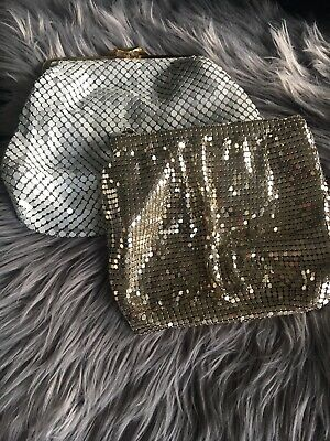 2 X Glow Mesh White And Gold Bags Forever new And Witchery