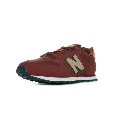 """Chaussures Baskets New Balance homme 500 GM """"Iron"""" taille Bordeaux Synthétique"""