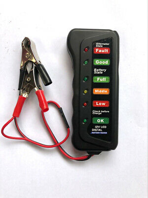 1pcs 12V Cars Motorcycle Battery Load Analyzer 6 LEDS Battery Condition Tester