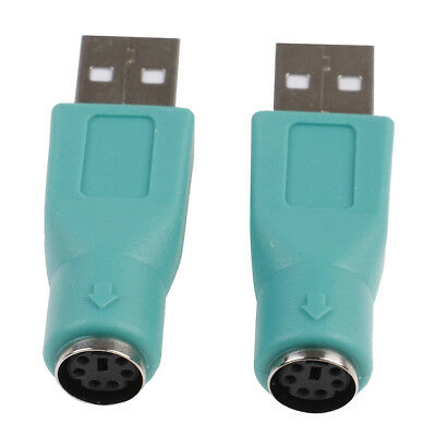 2PCS PS//2 Female to USB Male Adapters Converter For PC Computer Keyboard MoBLHK