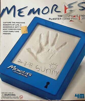 Memories Time Capsule and Plaster Hand Print Kit. Best Price
