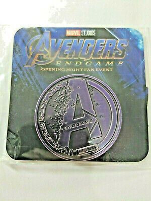 Avengers Endgame Regal Coin Opening Night Fan Event New Marvel Purple Metal New