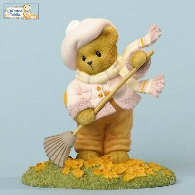 CHERISHED TEDDIES 2012 FIGURINE NIB 4031518 DUCKS PUDDLE RAIN COAT MAE