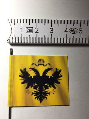 127) 1x 25mm 28mm Renaissance Holy Roman Empire Imperial Eagle Banner /Flag No.1