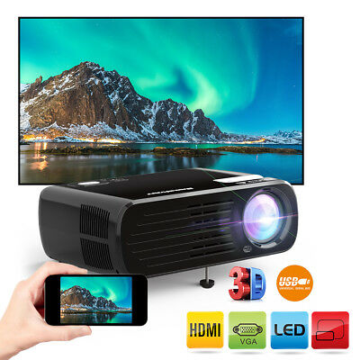 Excelvan Portable Mini Proyector LED HD 1080P Projector 3D with HDMI for phone