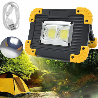 20W Rechargeable LED COB Work Light Camping Security Floodlight Emergency Lamp L