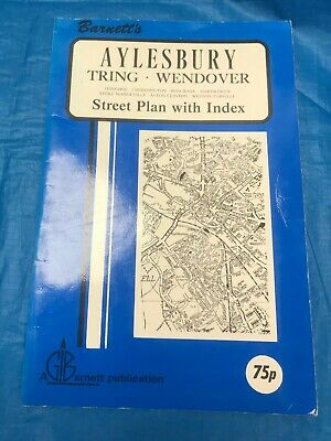 Vintage Street Map With Index Aylesbury. Tring. Wendover...barnett Map... *Sale*