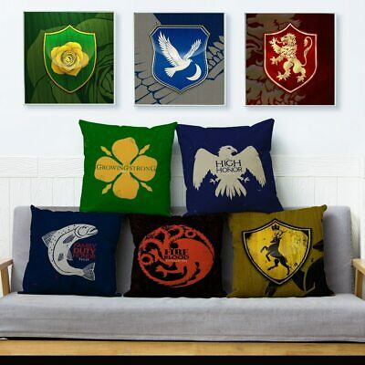 Square Cushion Cover Pillow Covers Game of Thrones Print Throw Sofa Home Decor