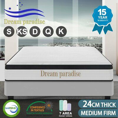 QUEEN KING SINGLE DOUBLE Dream Lover Bedding Mattress top Pocket Spring