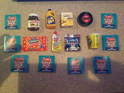 Lot of 8 Different Coles Little Shop Mini Collectables