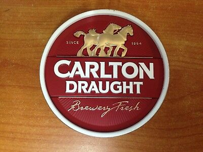 Carlton Draught Metal Beer Tap Badge
