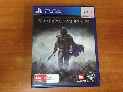 Playstation 4 PS4 Game - Shadow of Mordor - Excellent Condition