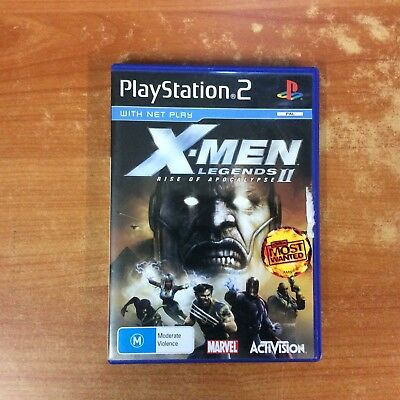 Sony PlayStation 2 Game - X-Men Legends II Rise of Apocalypse w/instructions