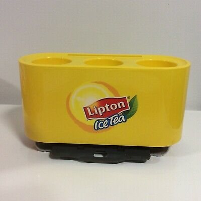 Lipton Ice Tea Yellow Straw Dispenser - Excellent Condition
