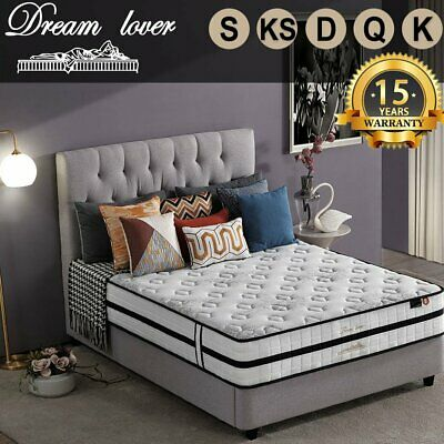 QUEEN KING SINGLE DOUBLE Dream Lover Bedding Mattress Euro top Pocket Spring