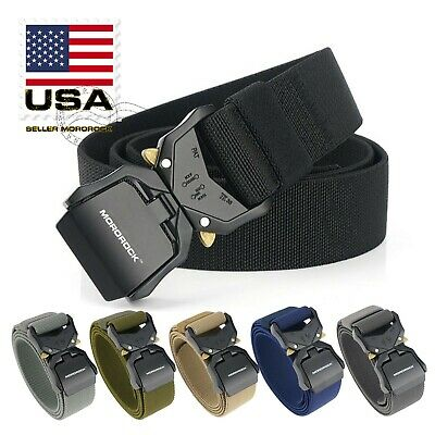 Adjustable Metal Buckle Military Tactical Belt Nylon Rescue Rigger Waistband