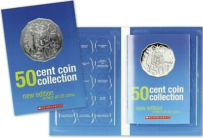 2019 Royal Australian Mint 50c Coin Collection folder + 1 Uncirculated 50c