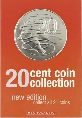 2019 Royal Australian Mint 20c Coin Collection folder + 1 Uncirculated 20c