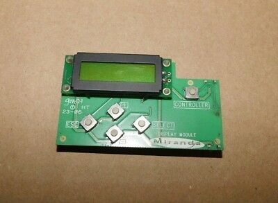 Miranda Display Module Controller 1482-0200-301 W/90 Day Warranty