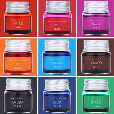 20ml Colorful Fountain Pen Ink Bottle Authentic Pure Ink Without Fountain Pen