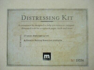 Distressing Kit for cards, scrapbooks etc. 27 items in box. Used once only.