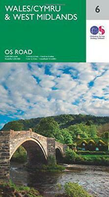 OS Road Map 6 Wales & West Midlands by Ordnance Survey, NEW Book, FREE & Fast De