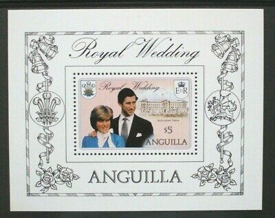 ANGUILLA 1981 Royal Wedding. SOUVENIR SHEET. Mint Never Hinged. SGMS467.