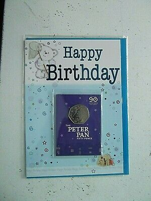 New IOM Peter Pan 50p to support Great Ormond Street Hospital on Birthday Card.4