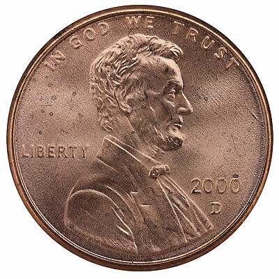 2000 D Lincoln Memorial Cent BU Penny US Coin