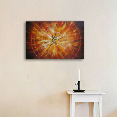 100% Hand Painted Modern Abstract Oil Painting Canvas Wall Art Decor With Frame